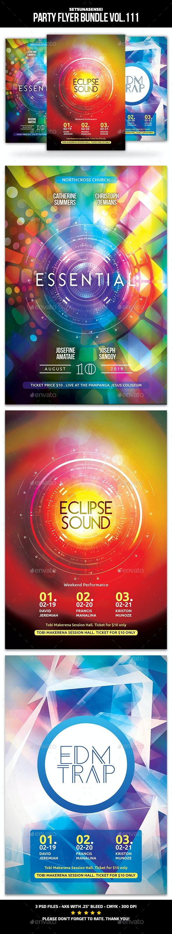Party Flyer Bundle Vol.111 - Events Flyers