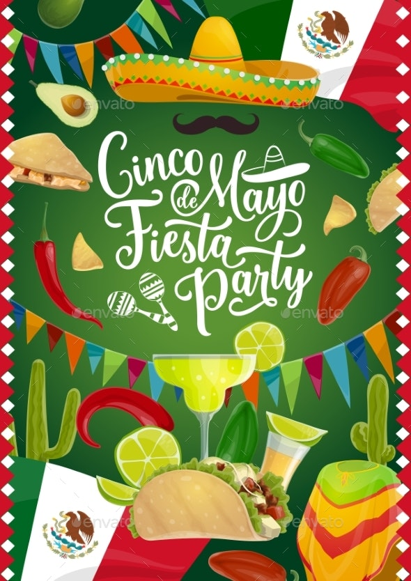 Cinco De Mayo Holiday, Mexican Fiesta Calligraphy - Seasons/Holidays Conceptual