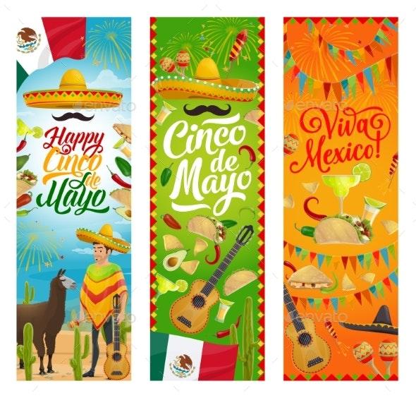 Mexican Holiday Cinco De Mayo Sombrero and Guitar - Seasons/Holidays Conceptual