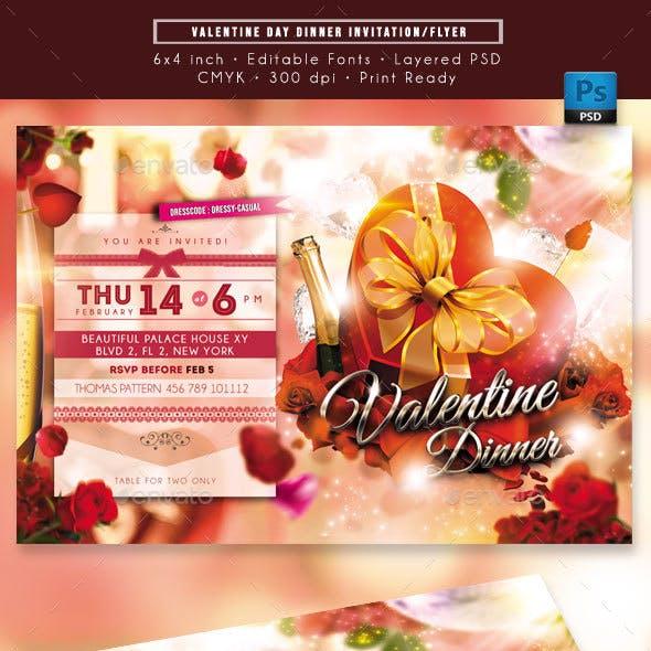 Valentine Day Dinner Invitation