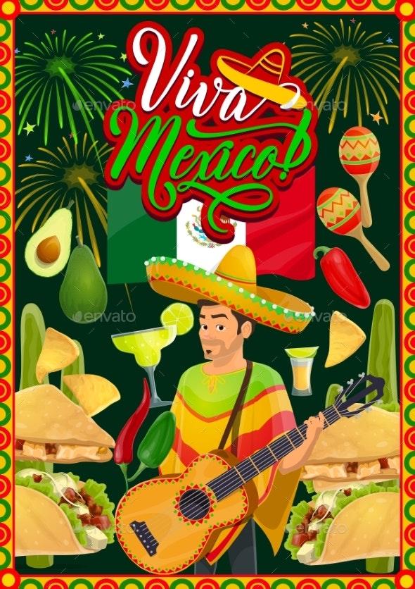 Cinco De Mayo Mariachi with Sombrero and Guitar - Seasons/Holidays Conceptual
