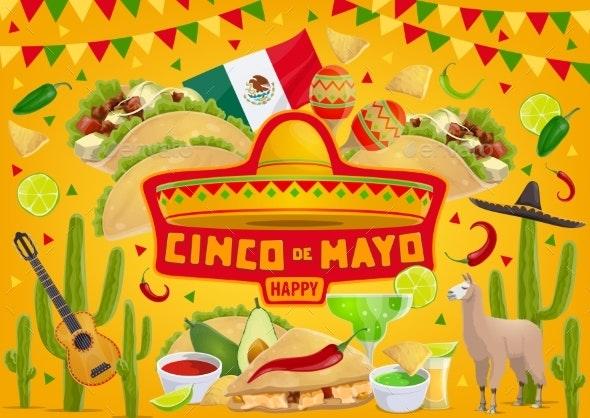 Happy Cinco De Mayo, Mexican Fiesta Celebration - Seasons/Holidays Conceptual