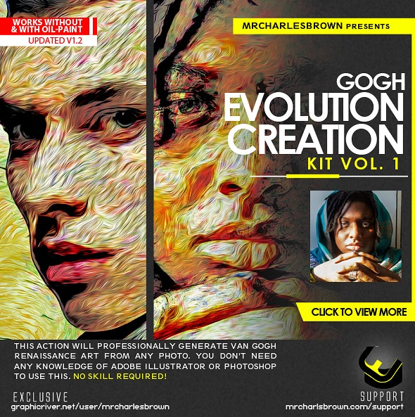 Gogh Evolution Creation Kit - Photo Effects Actions