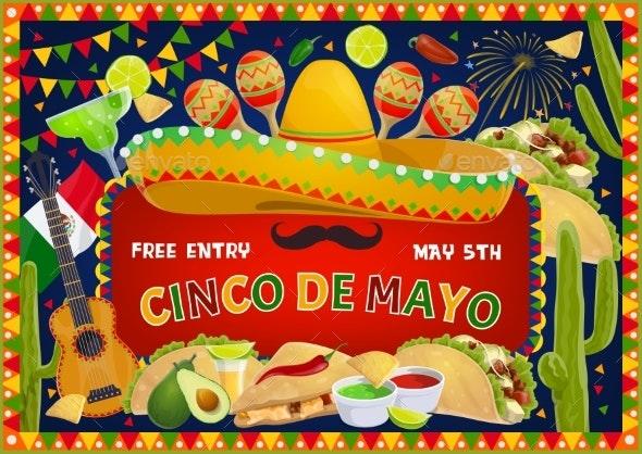Mexican Holiday, Cinco De Mayo Fiesta Celebration - Seasons/Holidays Conceptual