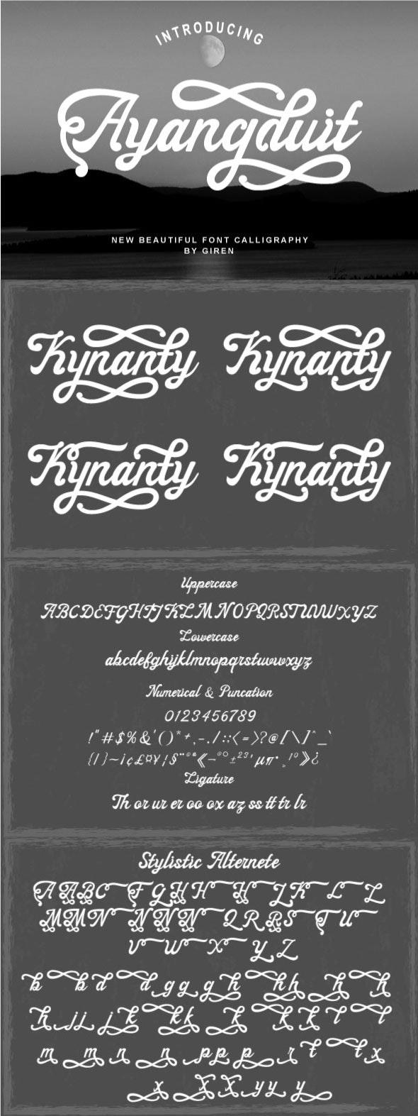 Ayangduit - Hand-writing Script
