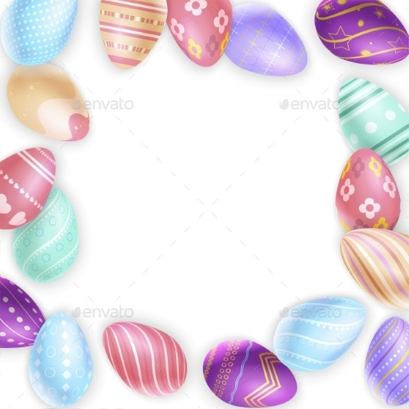 Border From Easter Eggs - Miscellaneous Seasons/Holidays