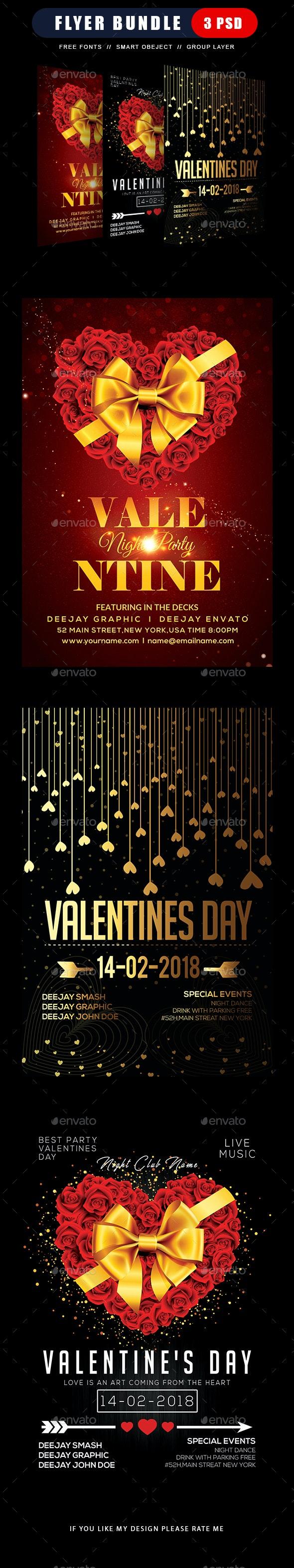 Valentines Flyers Bundle - Clubs & Parties Events