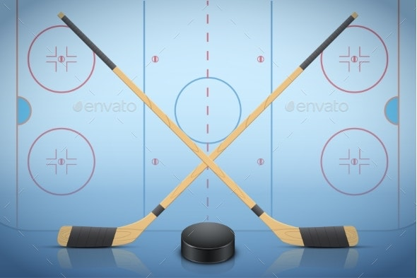 Banner Template of Ice Hockey - Sports/Activity Conceptual