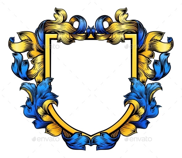 Coat of Arms Crest Knight Heraldic Family Shield - Miscellaneous Vectors