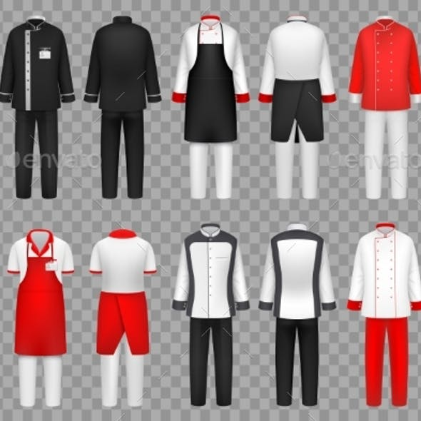 Culinary Clothing. Chef Uniform, Kitchen Textile