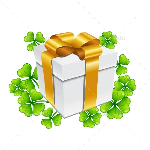 Saint Patricks Day Illustration of Gift Box - Miscellaneous Seasons/Holidays
