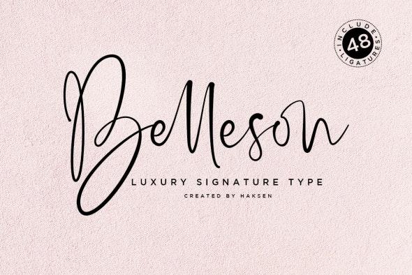 Belleson Luxury Script Type - Hand-writing Script