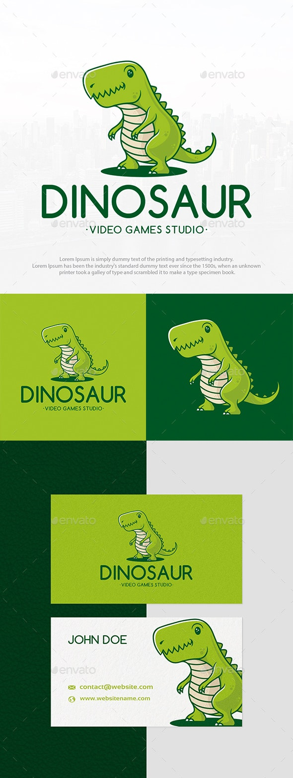 Dino Kid Mascot Logo - Animals Logo Templates