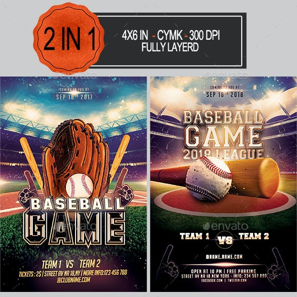 Baseball Flyer Bundle