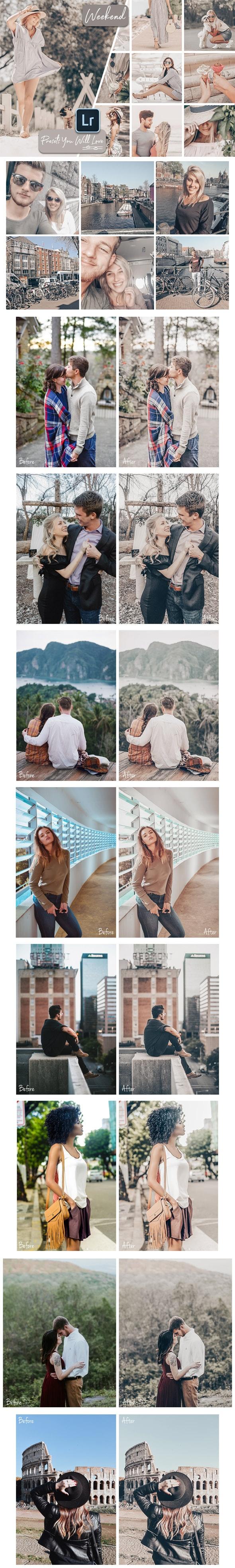 Weekend Lightroom Desktop and Mobile Presets - Portrait Lightroom Presets
