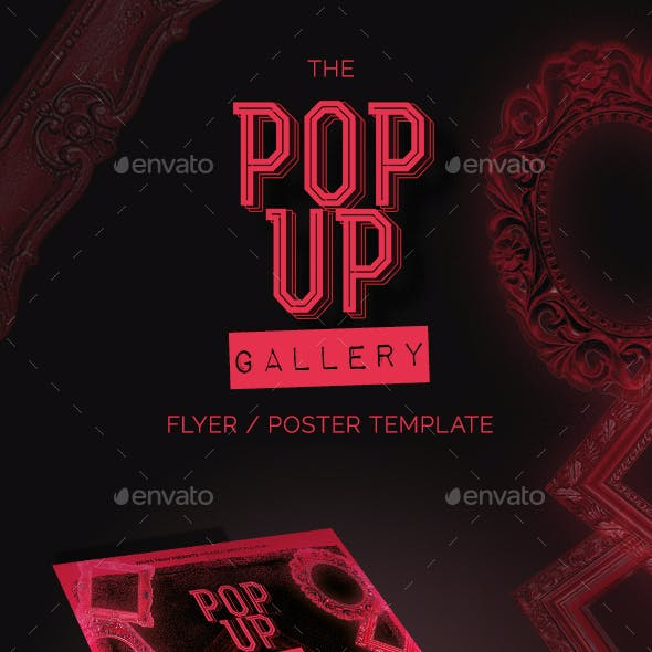 The Pop-Up-Gallery Flyer