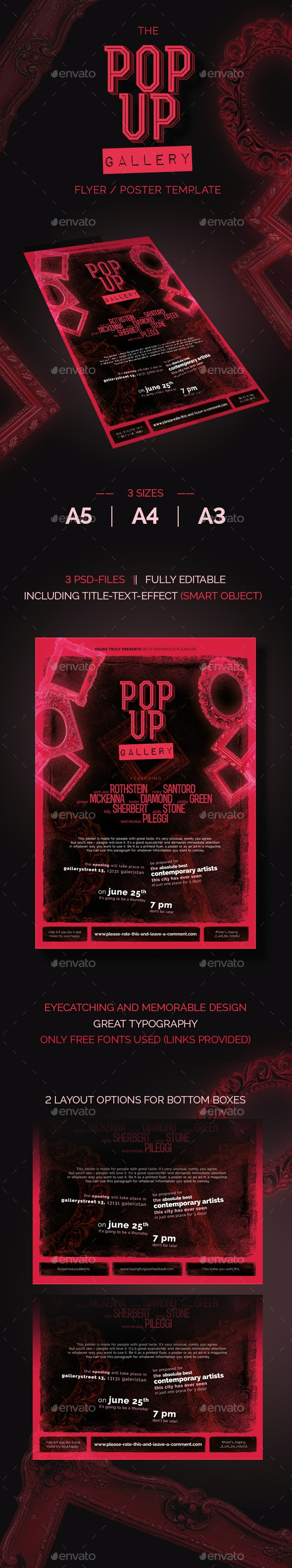 The Pop-Up-Gallery Flyer - Events Flyers