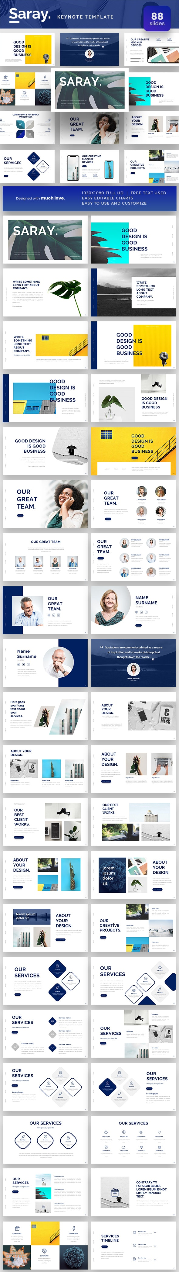 Saray Keynote Presentation Template - Keynote Templates Presentation Templates