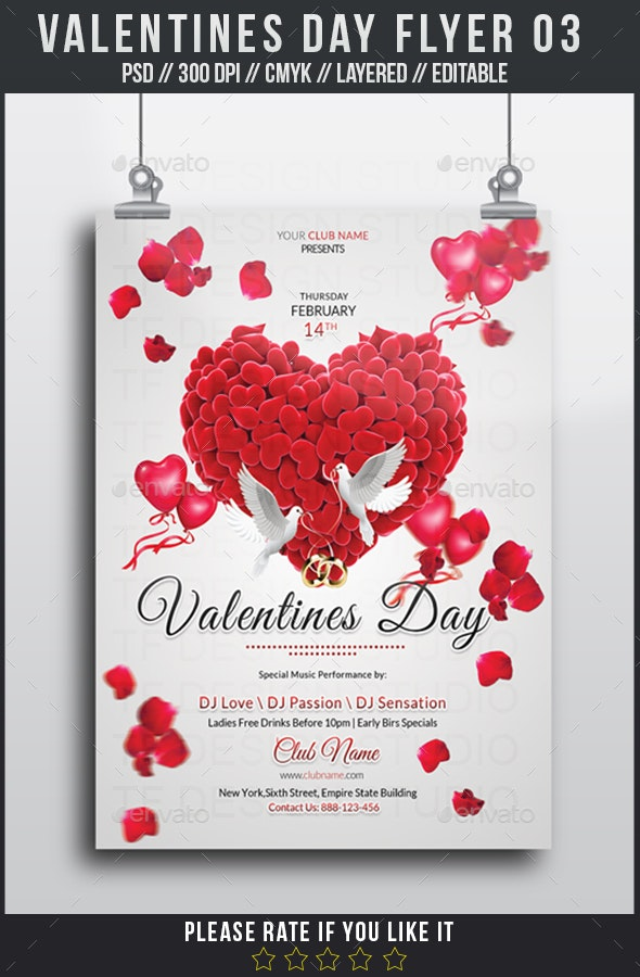 Valentines Day Flyer 03 - Events Flyers