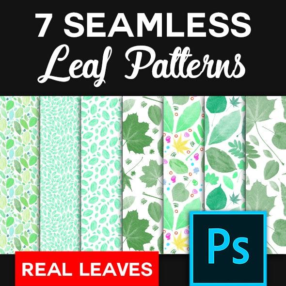 7 Original Leaf Patterns - Photoshop - Nature Textures / Fills / Patterns