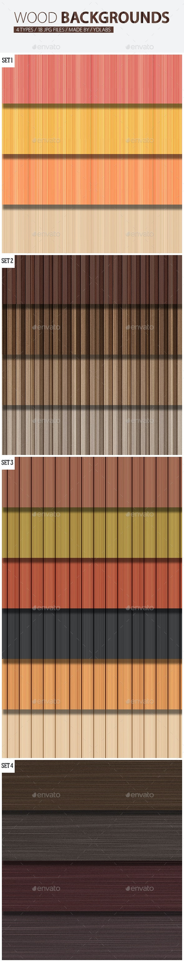 Wood Backgrounds Pack - Backgrounds Graphics
