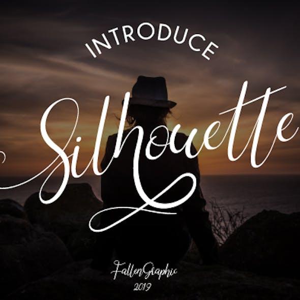 Silhouette Signature Font