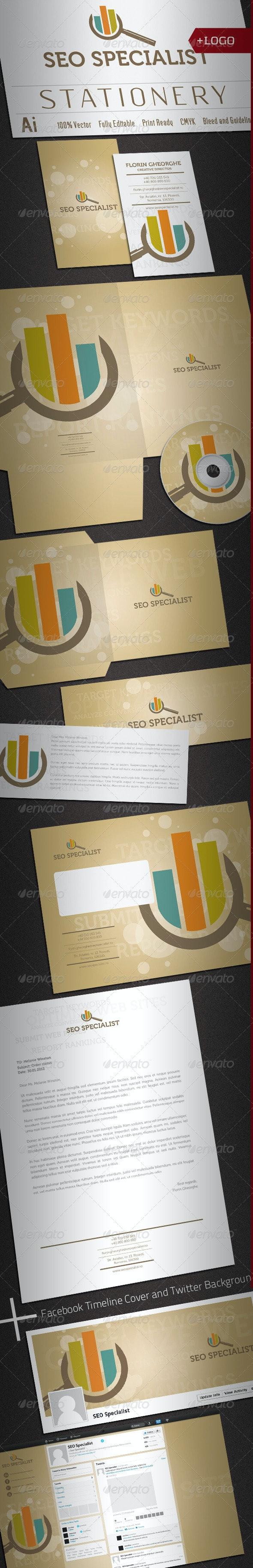 Seo Specialist Stationery - Stationery Print Templates