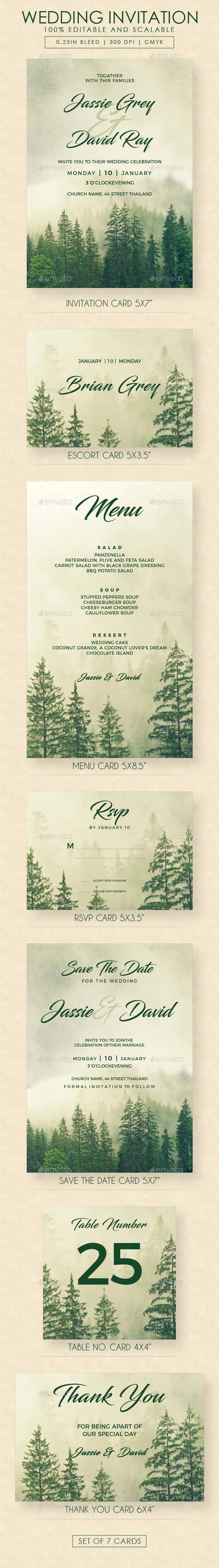 Tree Wedding Invitation Suite - Weddings Cards & Invites