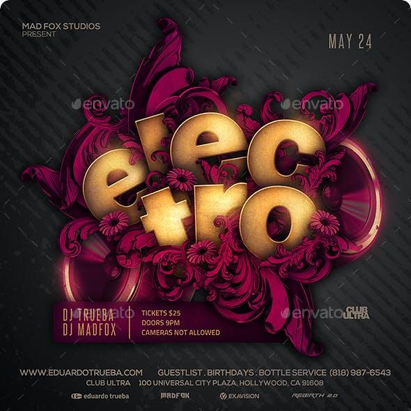 Electro Underground Party Flyer
