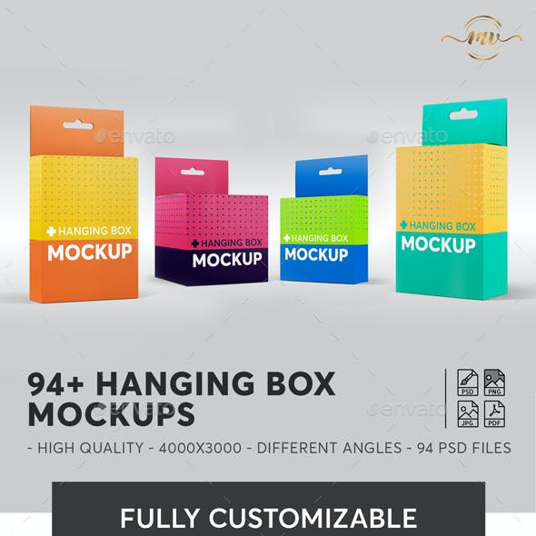 94+ Hanging Box Mockups Bundle