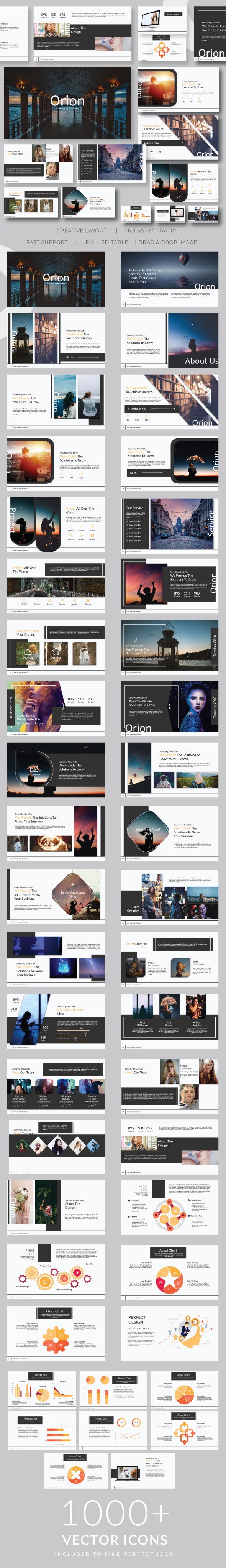 Orion Google Slide Template - Google Slides Presentation Templates
