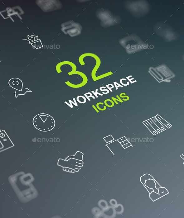 Office, Workspace Web Icon Set - Business Icons