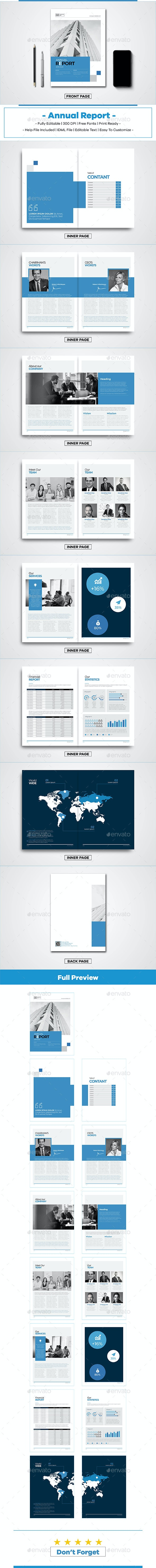 Annual Report - Stationery Print Templates
