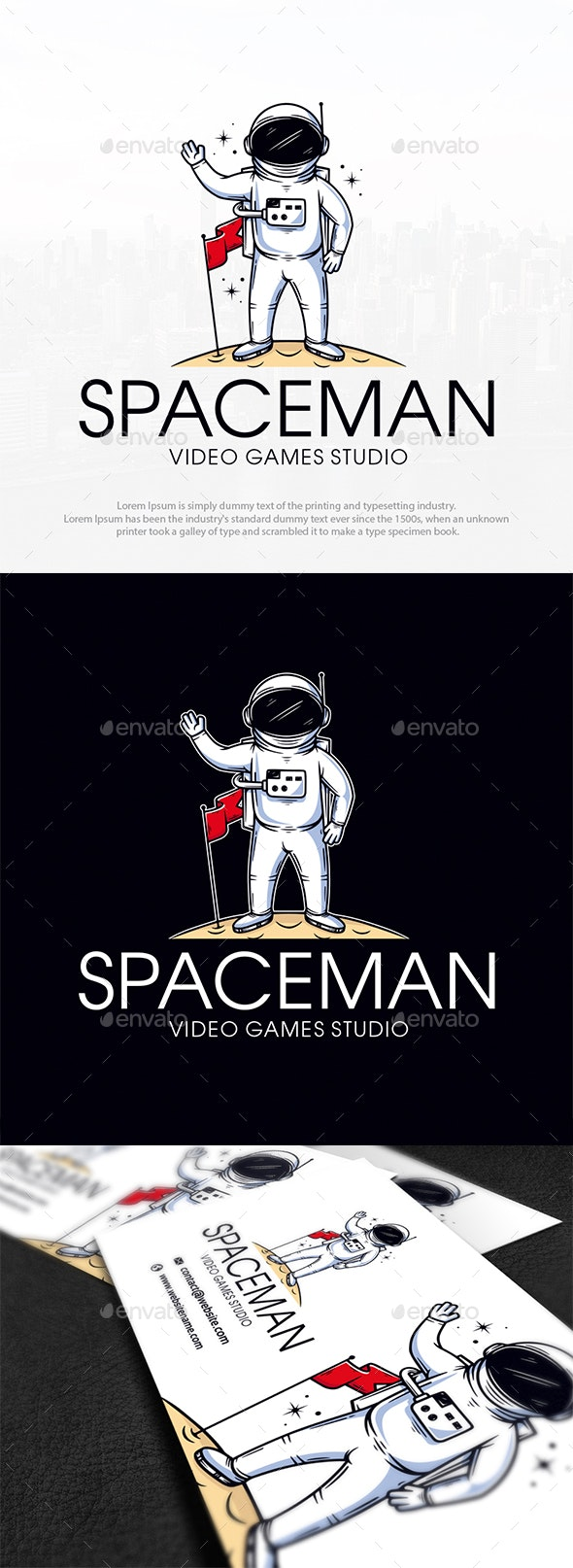 Spaceman Mascot Logo Template - Humans Logo Templates