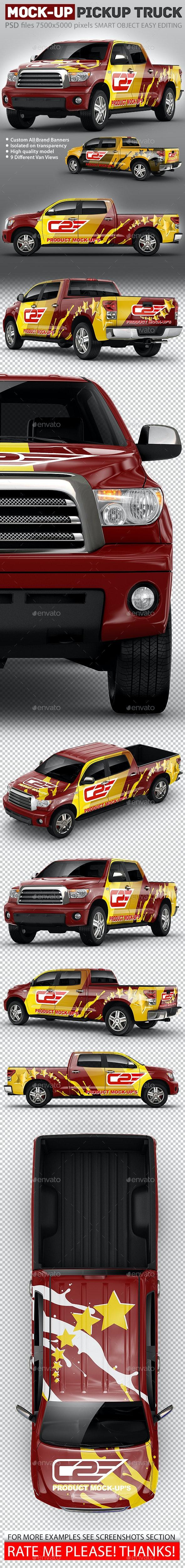 Pickup Mock-Up based on truck Toyota Tundra Crewmax - Vehicle Wraps Print