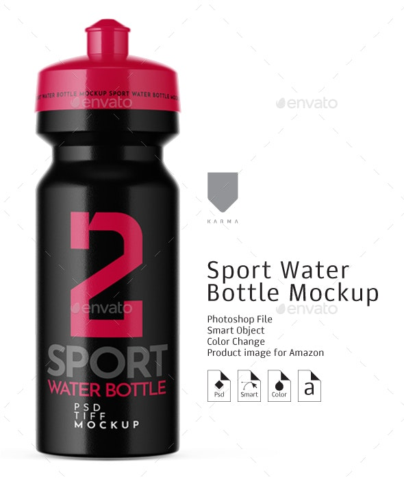 Sport Water Bottle Mockup - Packaging Product Mock-Ups