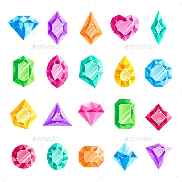Jewels and Gems - Miscellaneous Vectors