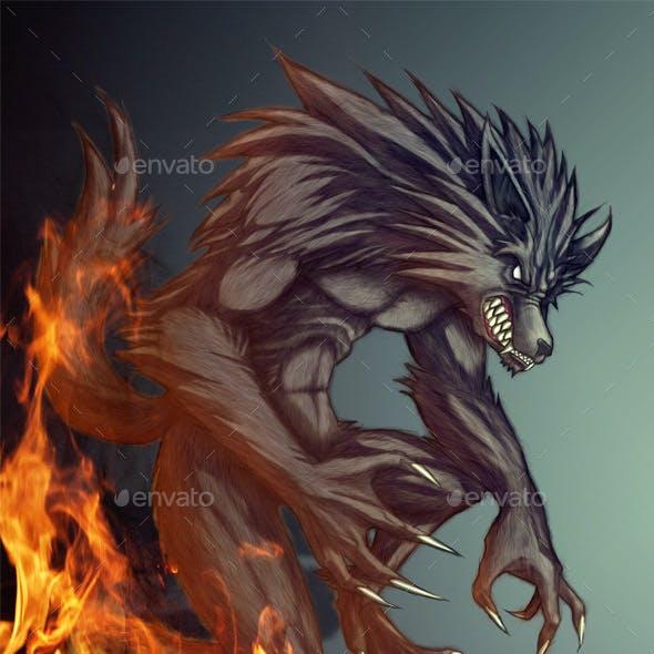 Werewolf comic book Monster
