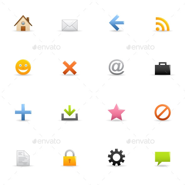 Web & Browser - Color Vector Icons - Web Icons