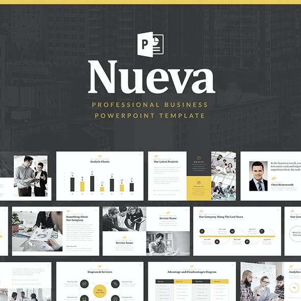 Nueva Business Pitch Deck PowerPoint Template