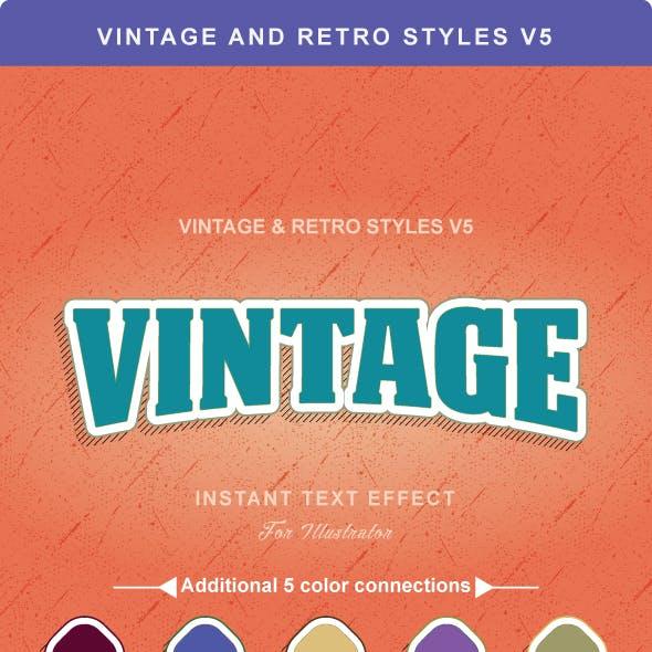 Vintage And Retro Styles V5