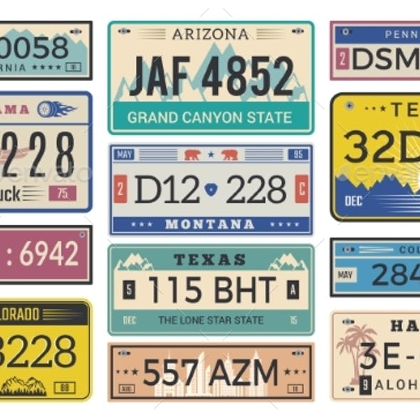 Automobile Plate License