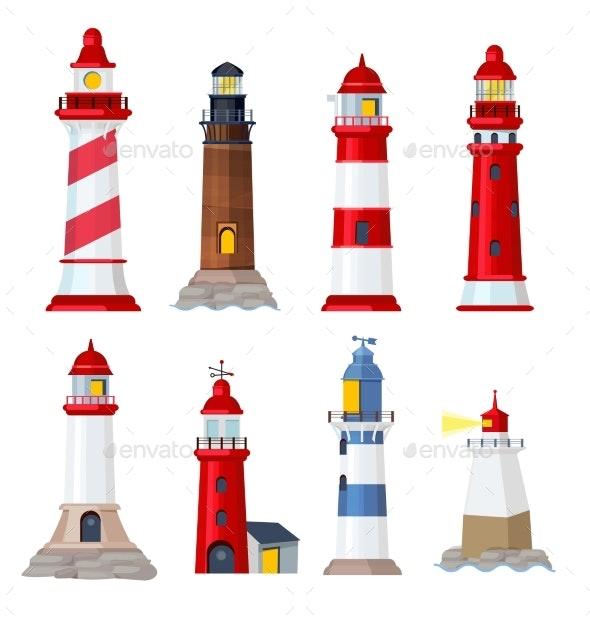 Lighthouse Cartoon - Buildings Objects