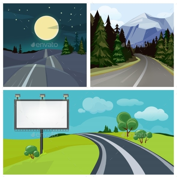 Roads and Highways - Miscellaneous Vectors
