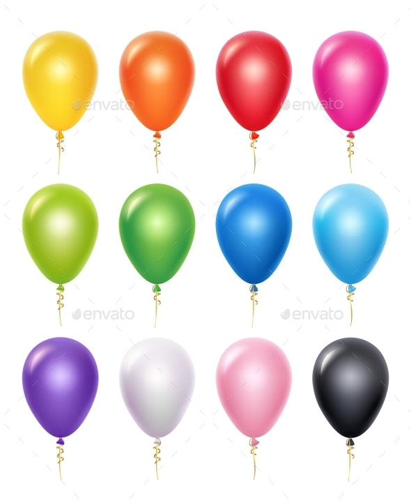 Colored Balloons - Man-made Objects Objects