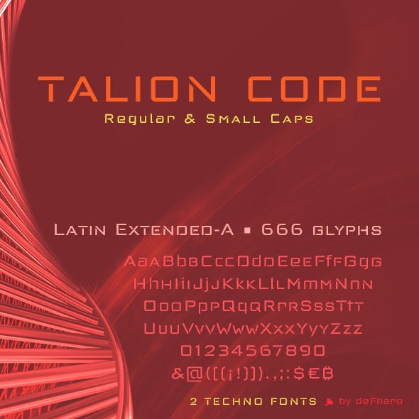 Talion Code -2 fonts-
