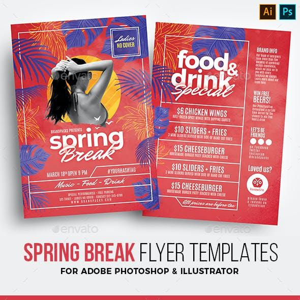 Spring Break Flyer Templates