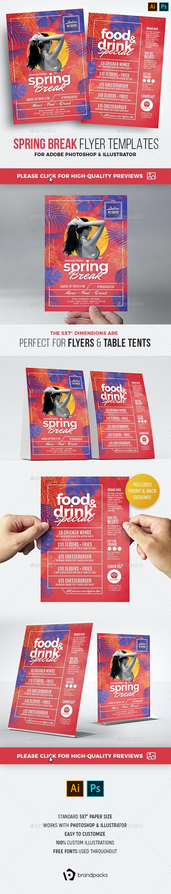 Spring Break Flyer Templates - Holidays Events