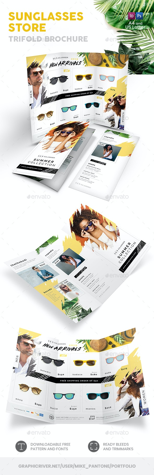 Sunglasses Store Trifold Brochure - Informational Brochures