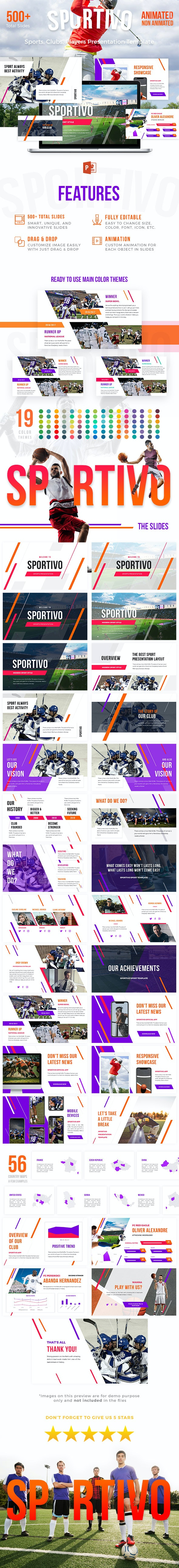 Sport Powerpoint Template - Sportivo - PowerPoint Templates Presentation Templates